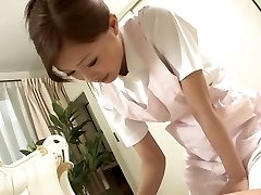 Sexy Nurse jerks her patient's boner as a therapy
