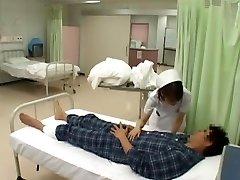 incredibile modello giapponese nozomi osawa, luna kanzaki, hinata komine nella cornea infermiera, calze jav video