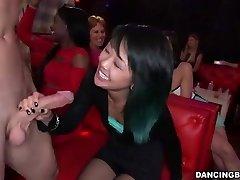 Young Asian Gal deepthroats Stripper