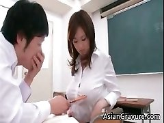Wondrous  and horny asian instructor shows her part3