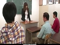 Insolent teacher is in for a sizzling fuck at school