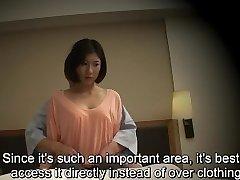 Subtitled Japanese hotel rubdown oral fucky-fucky nanpa in HD