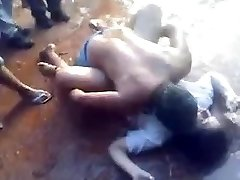 Colleg chick pummeled in public