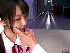 Neverjetno Japonski dekle v Čudovito JAV cenzurirano Fingering, Majhne Joške film