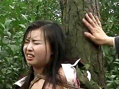 A kínai hadsereg lány kötve fa 2