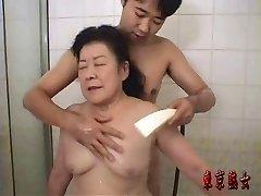 Asian granny loving sex