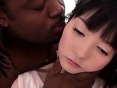 Tiny petite nippon plowed hard by BIG BLACK COCK