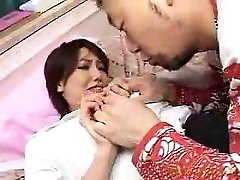 Beautiful honey has a horny guy kissing and caressing her lo