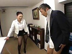 Japonski Šef jebe njeno zaposlenega tako težko na office - RTS