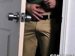 Bear daddy raw fucks his twink stepson and creaming his bum