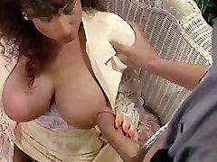 Sarah Young tit pummel and facial