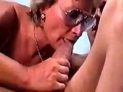 German Grannie Fucks And Sucks Her Man