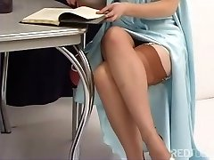 Justine Joli - Classic Girdle And Stockings