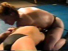 Hard-core lesbian Romp Fight on Academy Wrestling