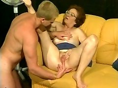 Retro grandma gets hot dicking from muscled guy