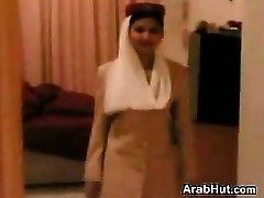 Pretty Arab Stewardess Giving A Blow-job