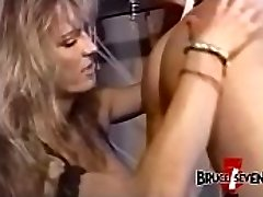 Huge-boobed dyke dominatrix penalizes sub after playing with her