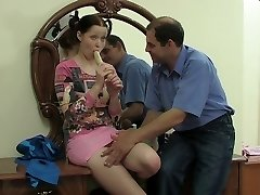 Slutty teen nailed in old vs. young vid