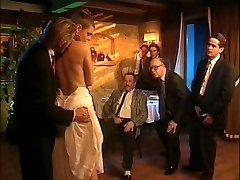 Elderly retro porno with great orgy
