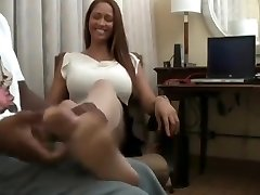 Ebony With Stellar Legs And Soles Tickled