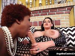 Hot Latina Plumper Angelina Castro StrapOn Fucks Black Maserati!