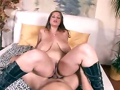 Huge tits in boots fucked