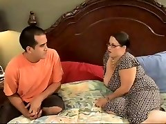 Sexy Plumper Mother Seduces Horny Young Stud