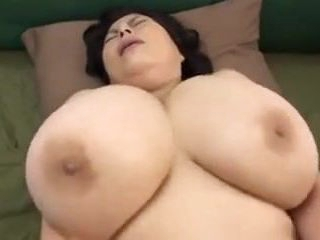 Japanese Mature with huge globes