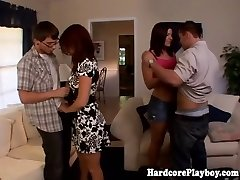 Classy babes fucking at swingers party