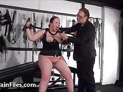 Bbw slave RosieB tit tortured and masochistic amateur bdsm of f