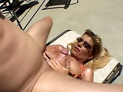 Hot Tanned Busty Cougar Krystal Summers Banging Poolside