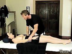 Duped cutie massaged jizz