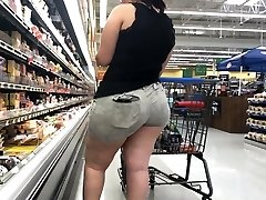 Wide Arse BBW Latina with Rump Eating Shorts Part 1