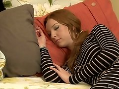Insatiable mature Erica Lauren penetrates a hot fellow next to his sleeping GF