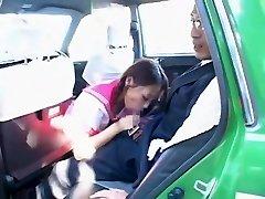 Horny Japanese girl Hime Orihara in Unbelievable Fellatio, Car JAV clip