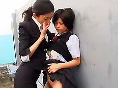 Najhorúcejšie Japonský suka Kurumi Katase v Exotických College, Prstoklad JAVA-film