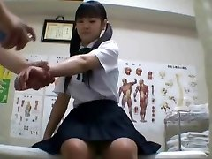 Japanese schoolgirl (18+) fucked during medical check-up