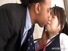 Asian schoolgirl gets twat touched