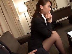 Uber-sexy Japanese girl Yui Oba in Crazy fingering, tights JAV video