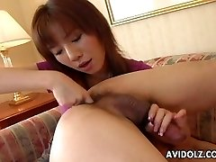 Asian whore slurps his ass and deep throats his donger