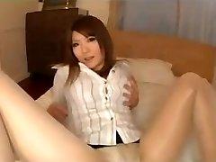 Pantyhose Asian Legs Tease With Panties
