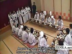 Υπότιτλους Ιαπωνική milfs ομάδα προκαταρκτικά δείπνο κόμμα