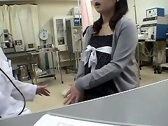Busty doctor plumbs her Jap patient in a medical fetish video