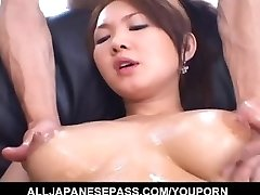 Huge-chested Asian doll senses eager to fuck