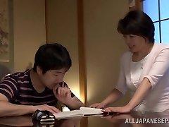 Chiaki Takeshita exciting mature Asian honey in position 69