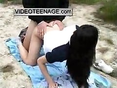 asian nubile fucked outdoor at beach