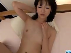 Ruri Okino tries cock in her mouth and in her beaver