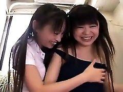 Warm amateur asian stunners threesome HD video 2