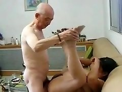 Chinese Granny Neighbour Gets Banged by Chinese Granddad