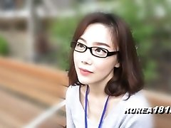 KOREA1818.COM - korean Sweetheart in glasses